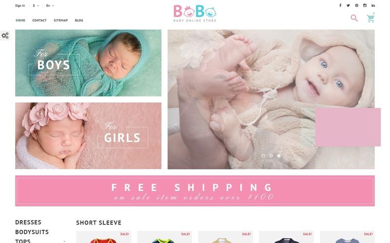 BoBo - PrestaShop-tema för babybutik online