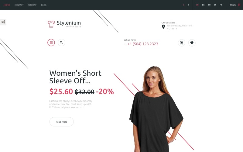 Stylenium - Fashion Store PrestaShop Theme