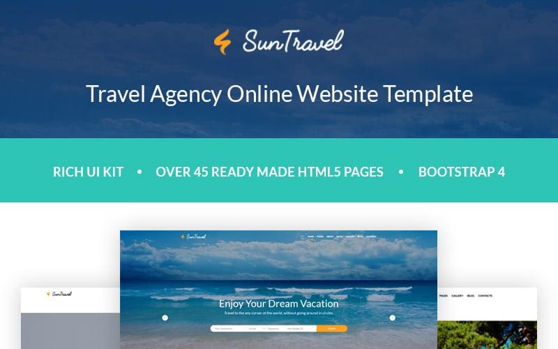 Sun Travel - Travel Agency Online Website Template