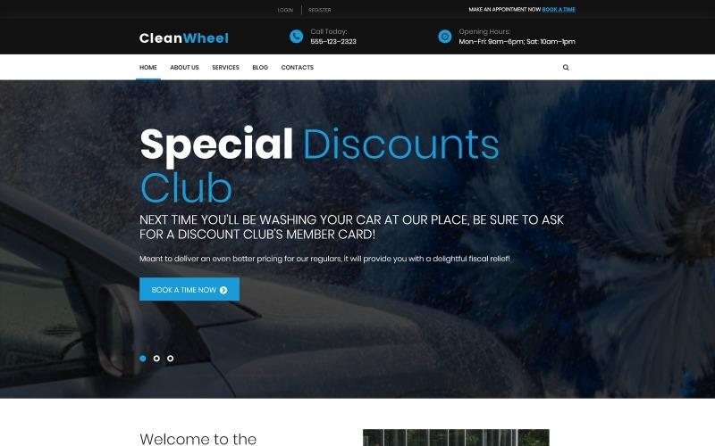 Тема WordPress для автомойки CleanWheel