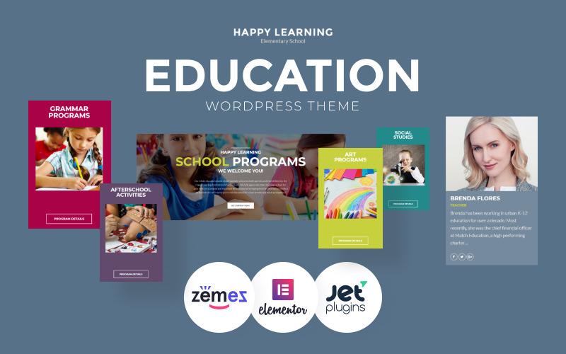 Boldog tanulást - Oktatás Többcélú, modern WordPress Elementor téma