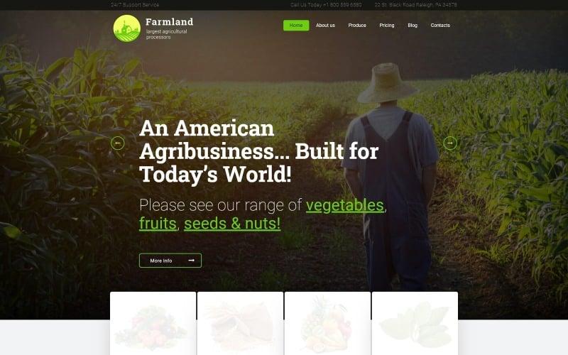 Farmland - Thème WordPress pour l'agriculture et l'agriculture