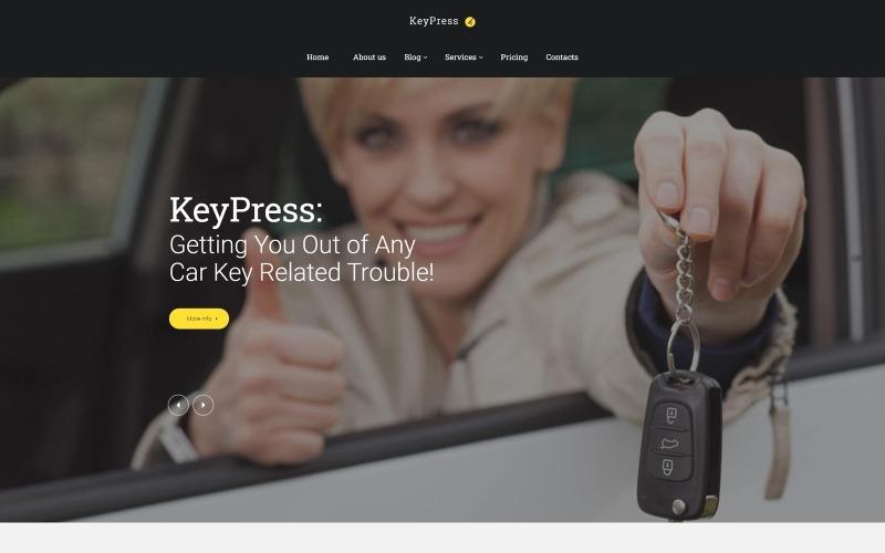 KeyPress - Car Key Replacement Service WordPress Theme