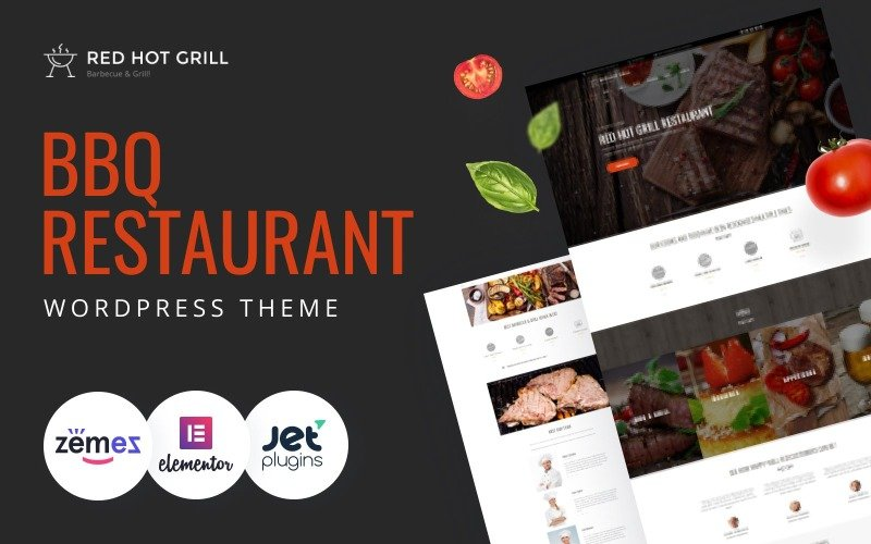 Red Hot Grill - Restaurant WordPress Theme
