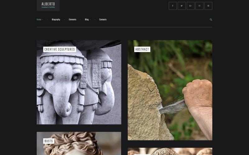 Alberto WordPress-thema