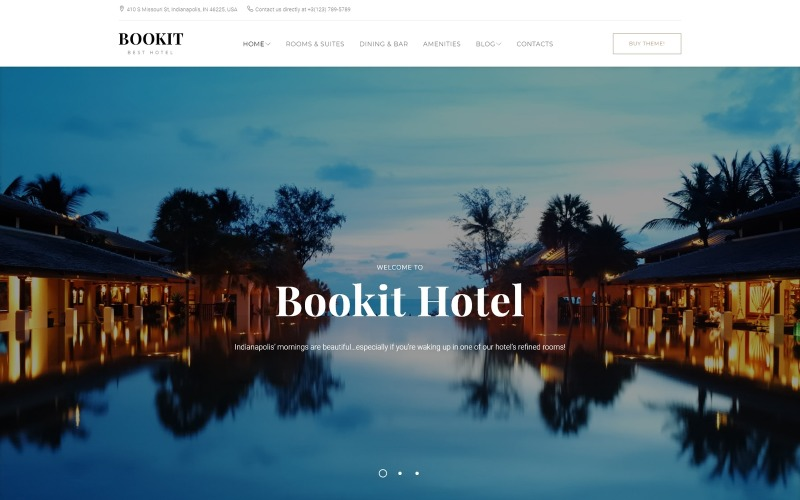 Bookit - Tema WordPress de pequeno hotel