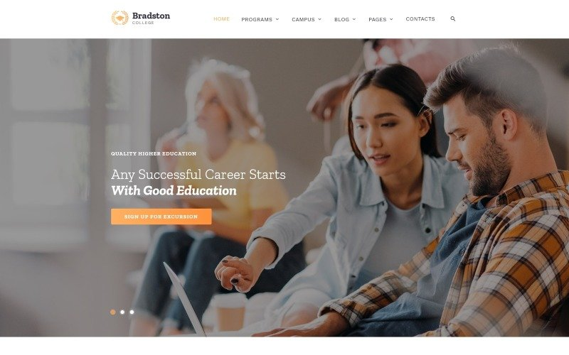 Bradstone College - Colleges & Universities Multipage Clean HTML Website Template