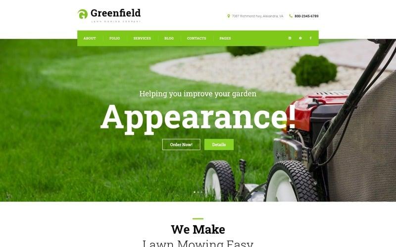 GreenField - Lawn Mowing Company Responsive WordPress Theme