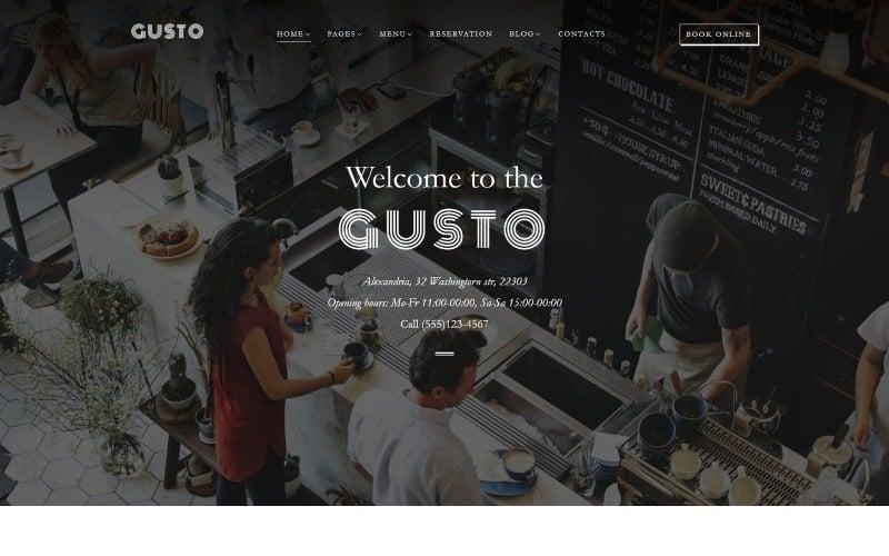 Gusto - Cafe & Restaurant WordPress Theme