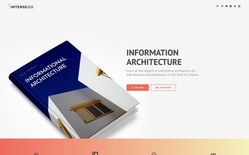 Intense Book Landing Page Template