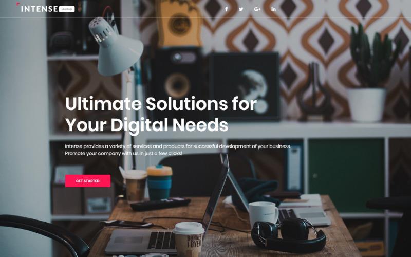 Intense Startup - Business Modern HTML Landing Page Template