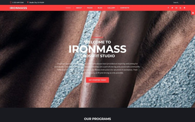 IronMass - Plantilla Joomla de fitness