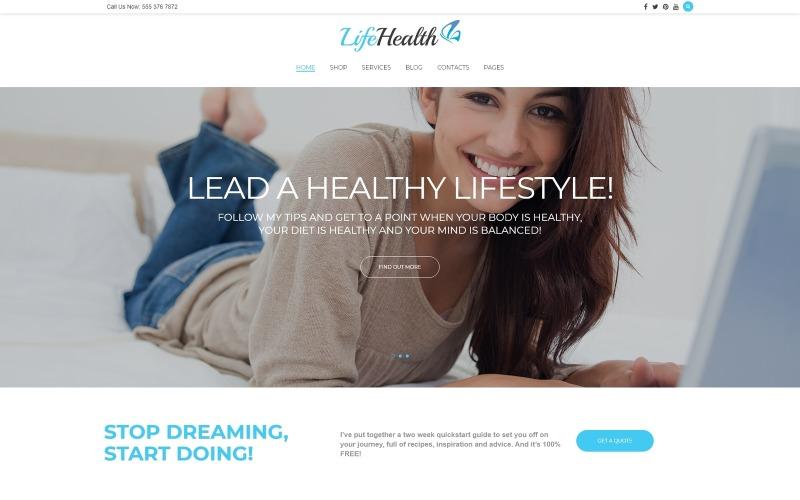 LifeHealth - чуйна тема WordPress для тренерів із здорового способу життя
