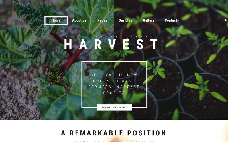Récolte - Modèle Joomla de l'entreprise agricole