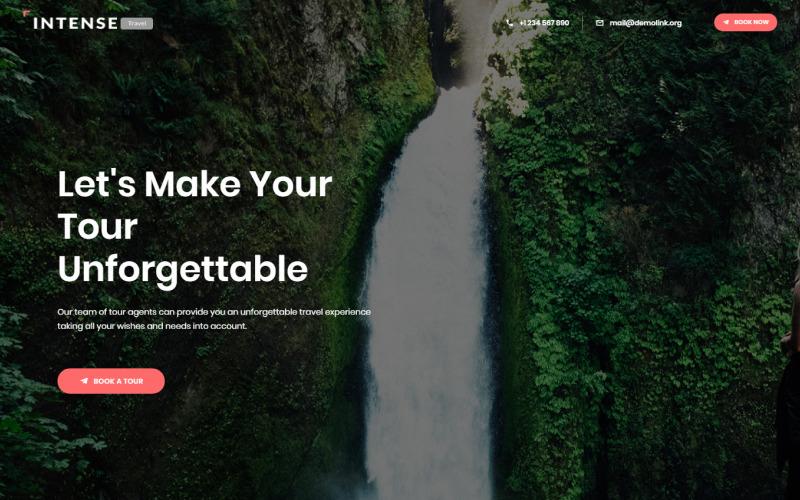 Шаблон целевой страницы Intense Travel Agency