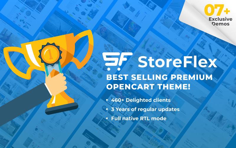 StoreFlex - modelo multifuncional responsivo + modelo OpenCart RTL