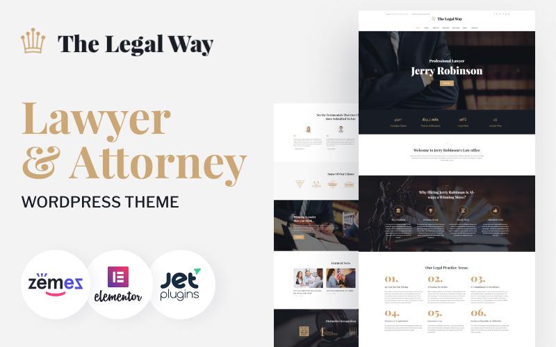 The Legal Way - Advocaat & advocaat WordPress-thema