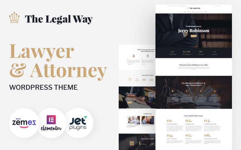 The Legal Way - Lawyer & Attorney WordPress Theme