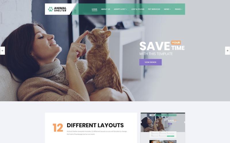 Állatmenhely - Állatgondozásra érzékeny webhelysablon