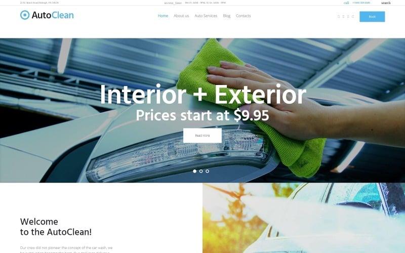 AutoClean - тема WordPress для автомойки и ремонта автомобилей