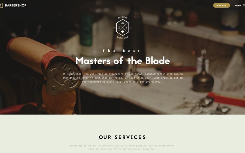Barbershop - Website-sjabloon voor haarverzorging en haarstyling
