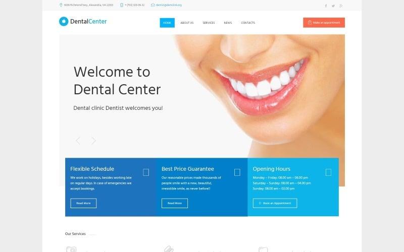 Dentalcenter - Tema WordPress adaptable para clínica dental