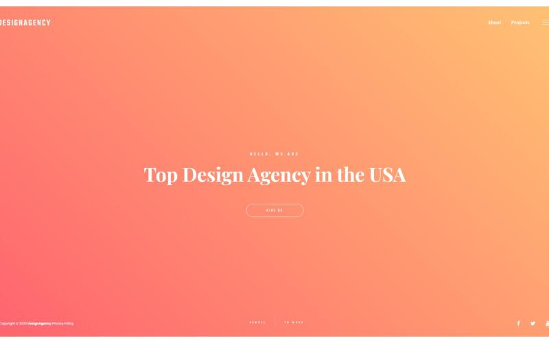 设计机构响应式多页网站模板