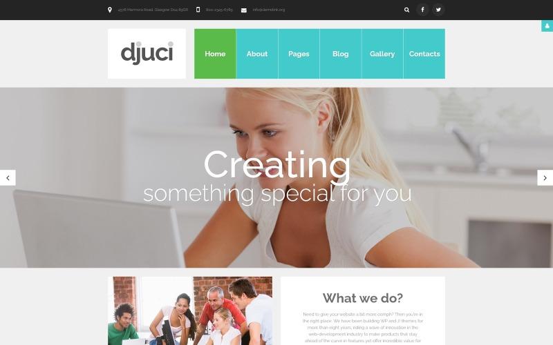 Djuci - Web Design Agency Joomla sablon