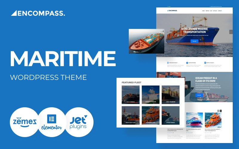 Encompass - Transportation Maritime WordPress Theme