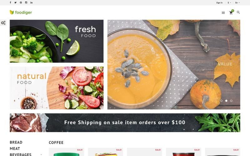Foodiger - Lebensmittelgeschäft PrestaShop Theme