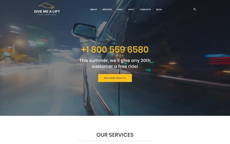 Give Me A Lift - тема WordPress для транспорта и такси
