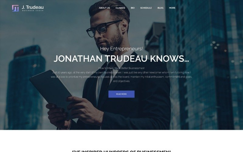 J.Trudeau - Business Coach WordPress Theme
