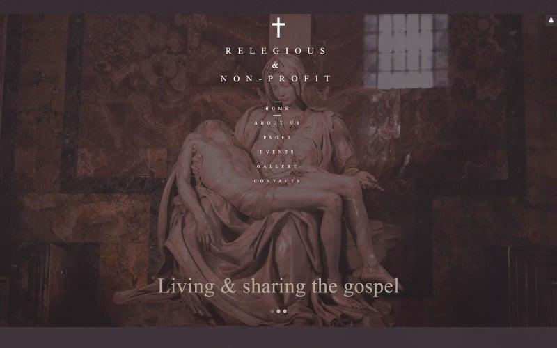 Keresztény egyház - vallási és nonprofit Joomla sablon