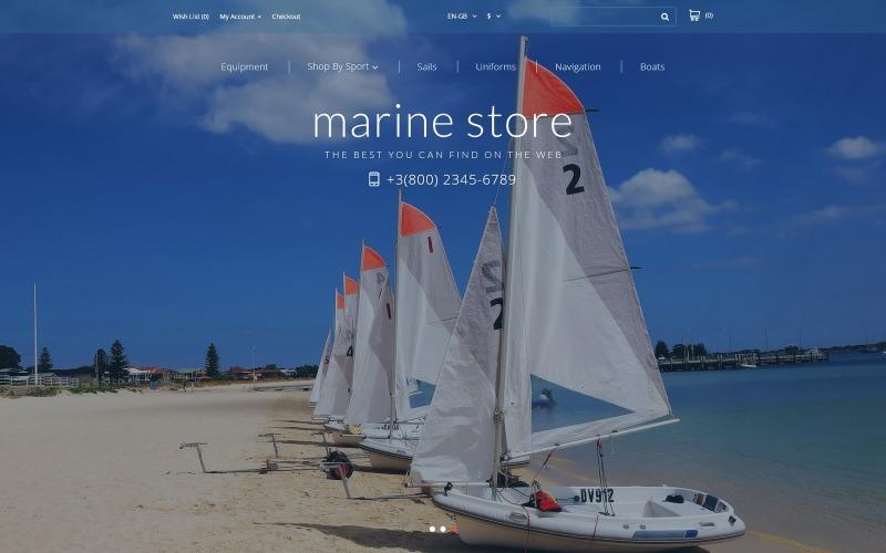 Marine Store OpenCart Vorlage