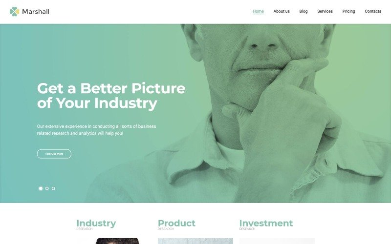 Marshall - Business Analysis and Market Research Agency WordPress Theme