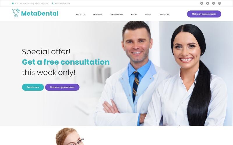 MetaDental - Thème WordPress réactif pour clinique dentaire privée