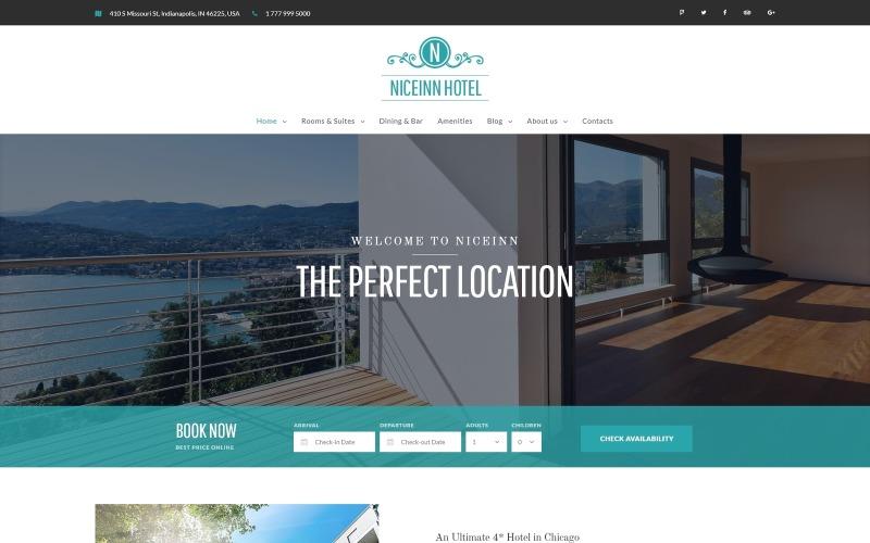 NiceInn - адаптивная тема WordPress для небольших отелей