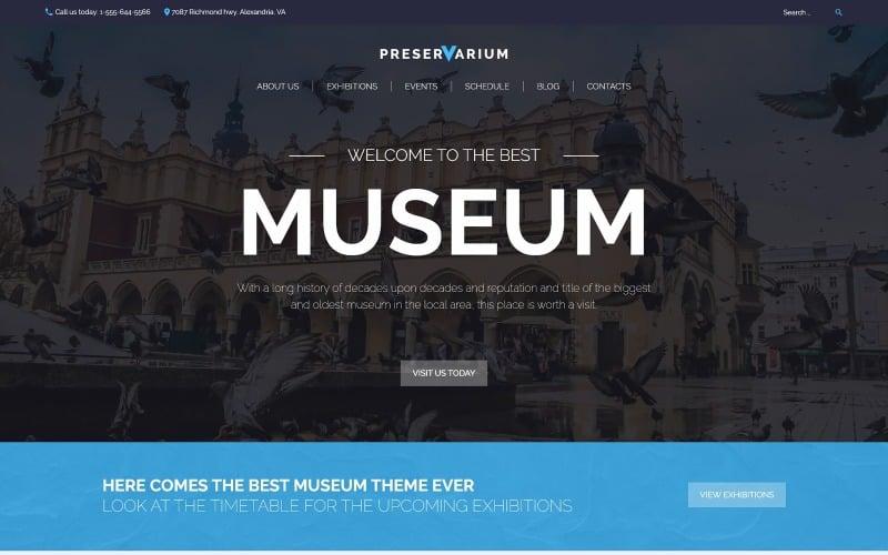 Preservarium - Tema WordPress adaptable al museo