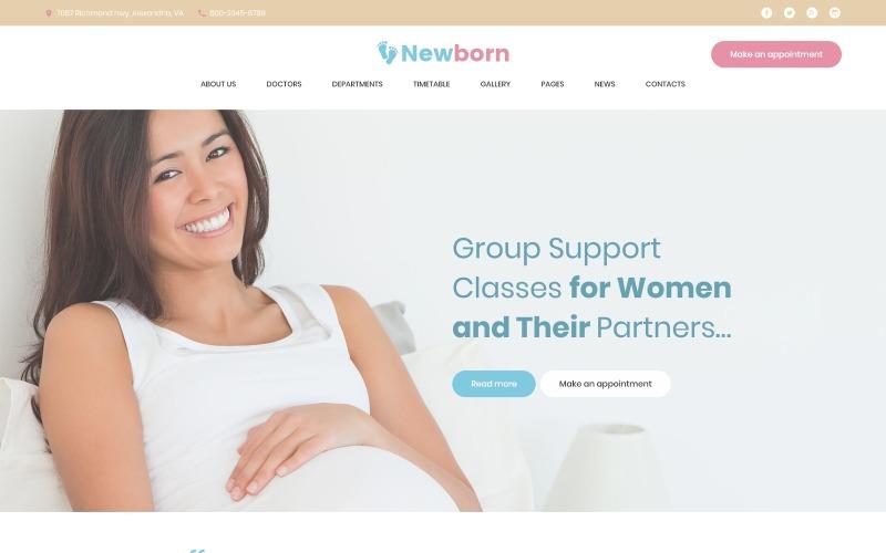 Recém-nascido - Tema WordPress do Centro de Apoio à Gravidez
