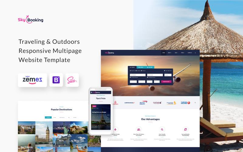 SkyBooking - Uçuş Rezervasyonu HTML5 Web Sitesi Şablonu