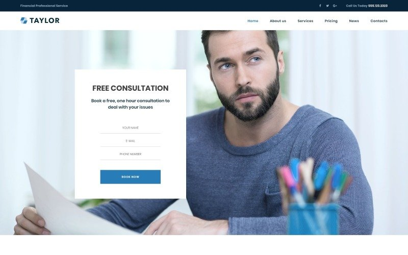 Taylor - Financial Accounting WordPress Theme
