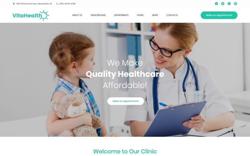 VitaHealth - Tema WordPress médico receptivo para clínicas pediátricas