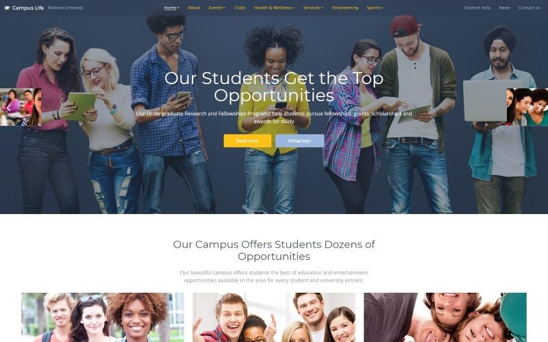 校园生活-国立大学多页网站模板
