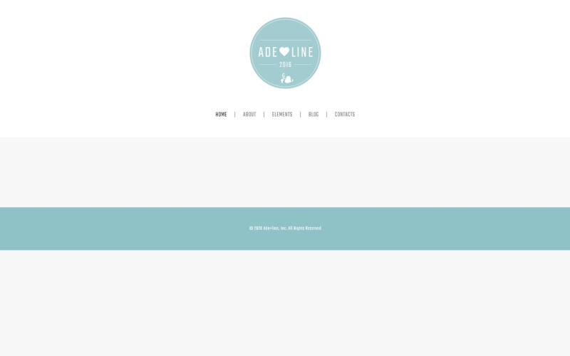 Adeline - тема WordPress для фотоальбома молодой пары