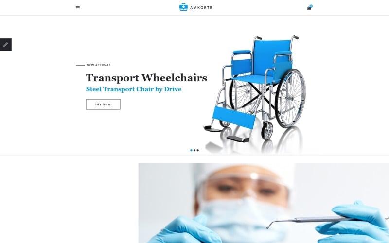 Amkorte - Medical Equipment Store OpenCart Template