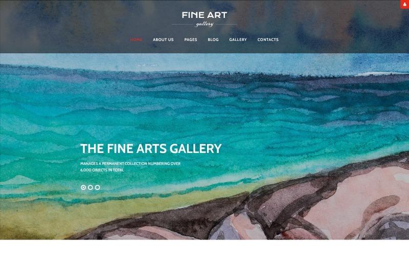 Bellas artes - Galería de arte y cultura Plantilla de Joomla adaptable