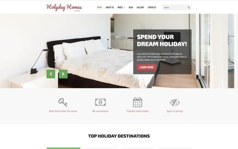 度假屋-房地产多页清洁Joomla模板
