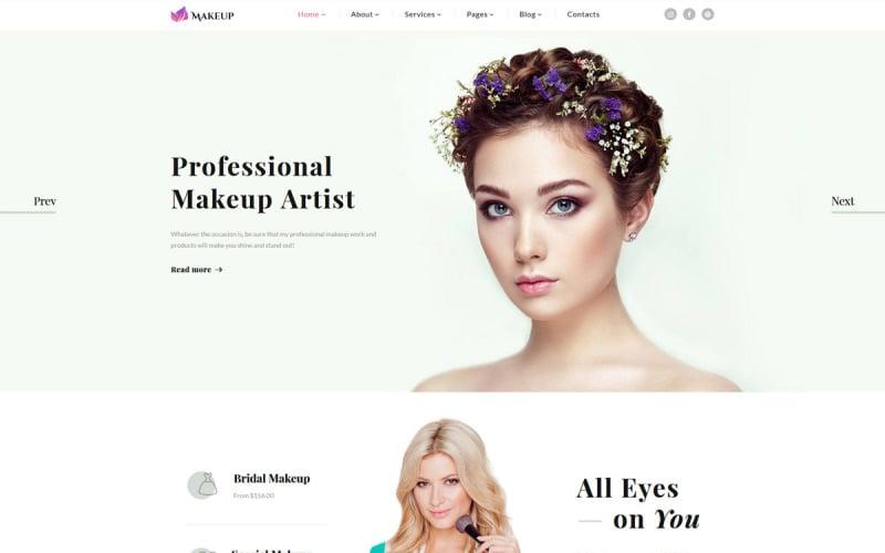 Makeup Artist & Cosmetics Responsive Website Template