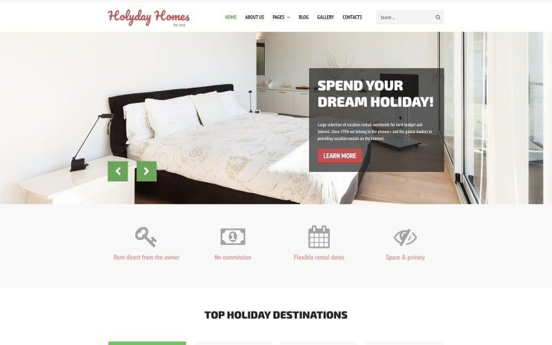 Prázdninové domy - vícestránková čistá šablona Joomla pro nemovitosti