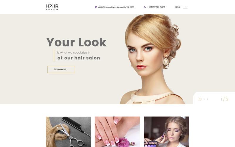 Шаблон многостраничного веб-сайта парикмахерской